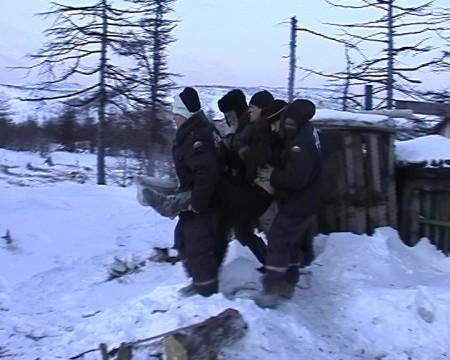 Эвакуация обмороженного р.Окса