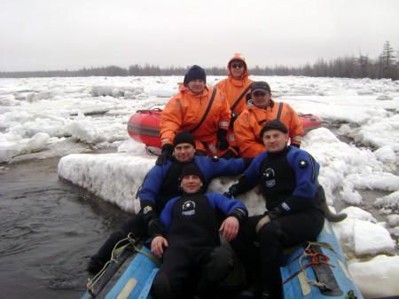 Поиск рыбаков р.Ола