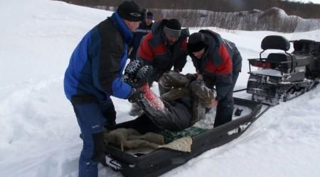 Поиск пострадавшего из под лавины