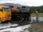 Тушение автоцистерны 60 км Тенькинской трассы Магаданской области 04.08.2016