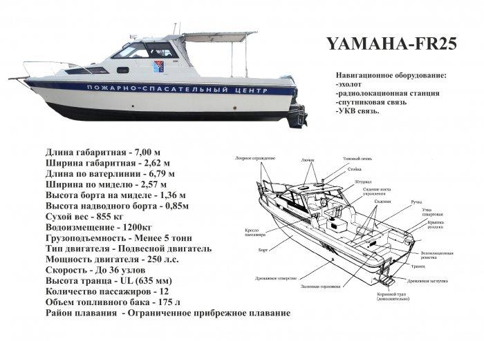 ПОИСКОВО-СПАСАТЕЛЬНЫЙ КАТЕР YAMAHA-FR25