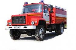 Автоцистерна пожарная АЦ 2,3-40(33086) среднего класса на полноприводном шасси ГАЗ-33086 с объемом цистерны 2,3 м. куб.